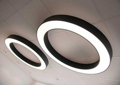 Beleuchtung im Ladenlokal von Brille Bonow
